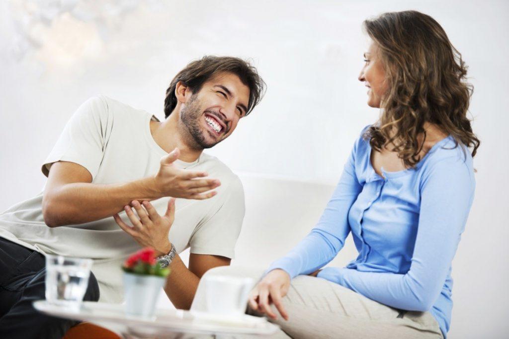 Мужчина и женщина, умеющие серьезно и честно разговаривать ...